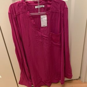 Rickis long sleeve fuschia blouse - size Large